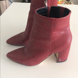 "Sam Edelman ""hilty"" bootie in red"